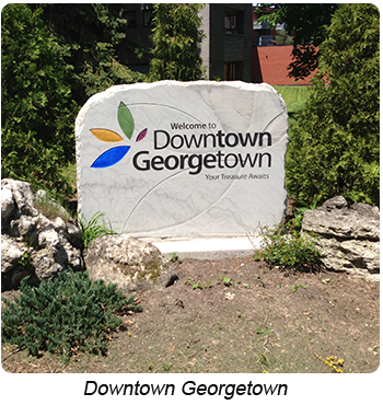 Georgetown Ontario - Downtown Georgetown Sign