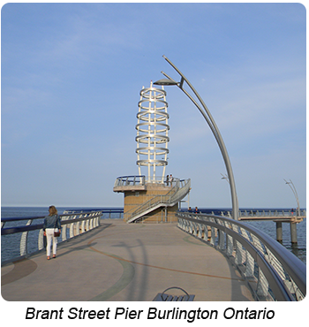 Brant Street Pier Located in Burlington Ontario